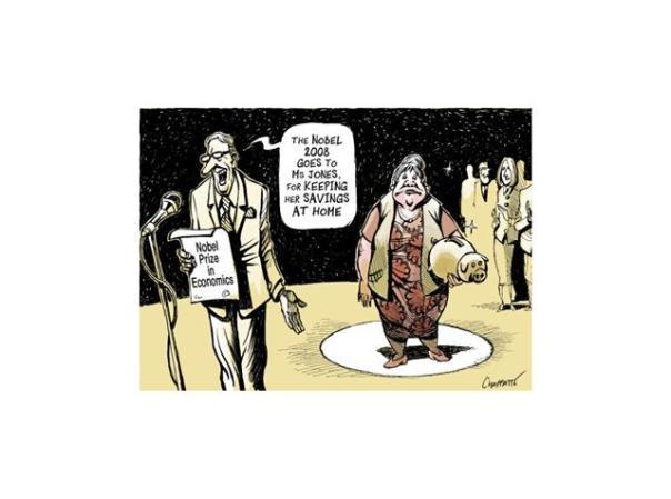 Le prix Nobel est décerné à madame Jones pour le sauvetage de son habitation principale...