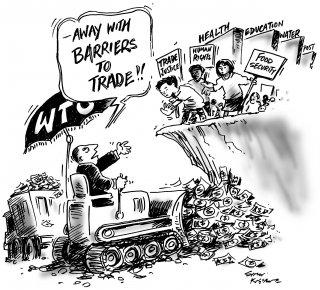 ( OMC) Virez moi les barrières du commerce !! [ commerce équitable] [ Droits de l'Homme] [Sécurité alimentaire ]